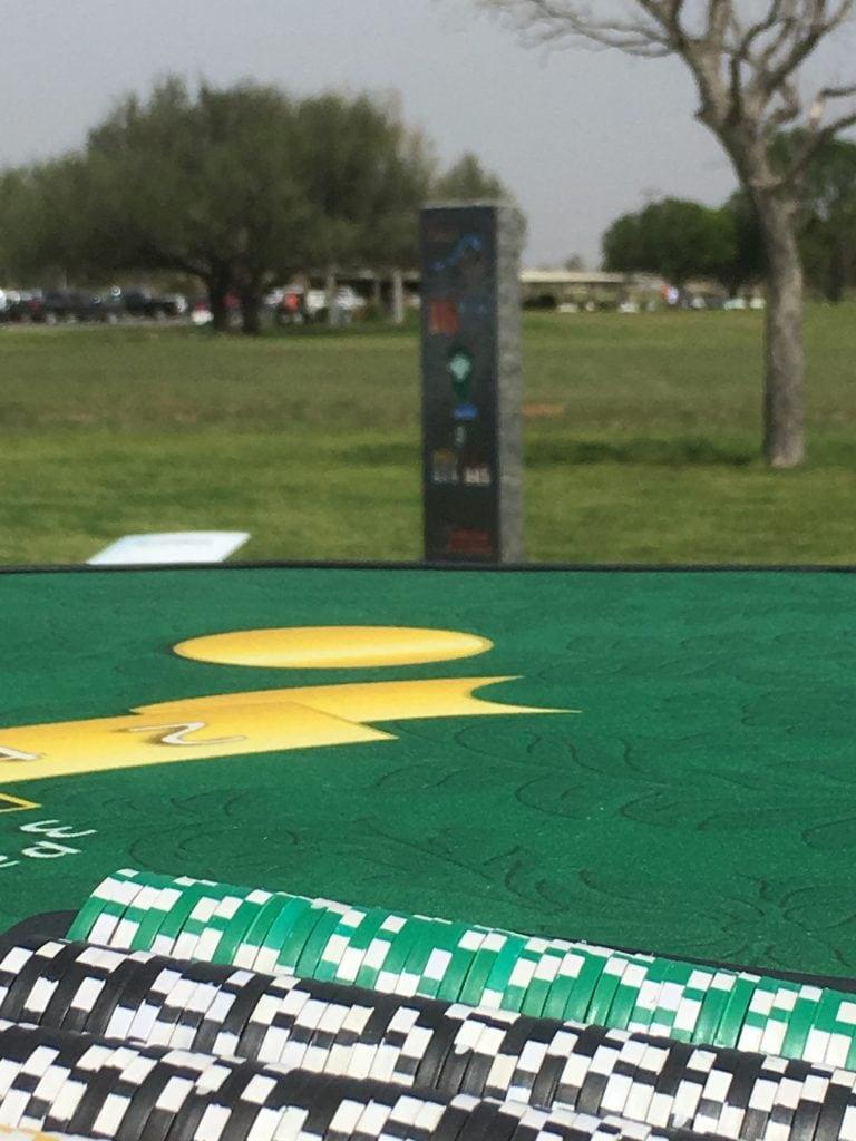 golf blackjack, blackjack table over looking golfing greens