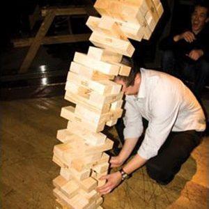 bar games 4, large jenga falling over