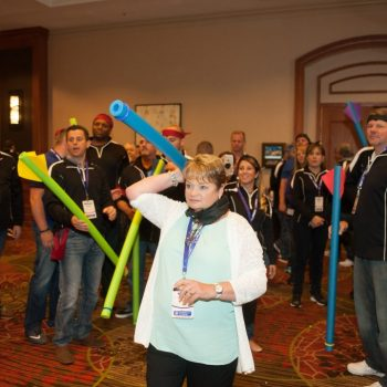 Indoor Field Day, fun with pool noodles
