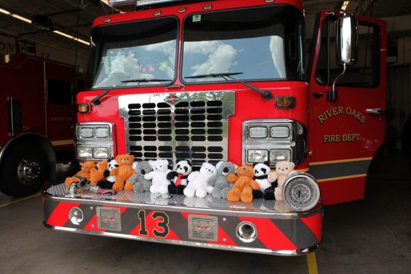 bears blog 2, teddy bear on the front of a fire truck