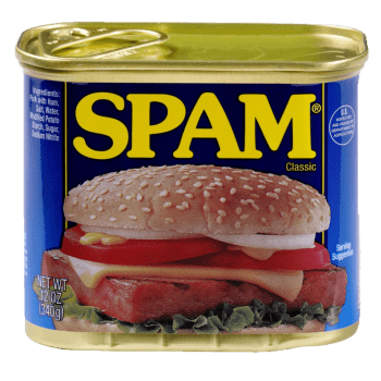 Spam off, can of spam