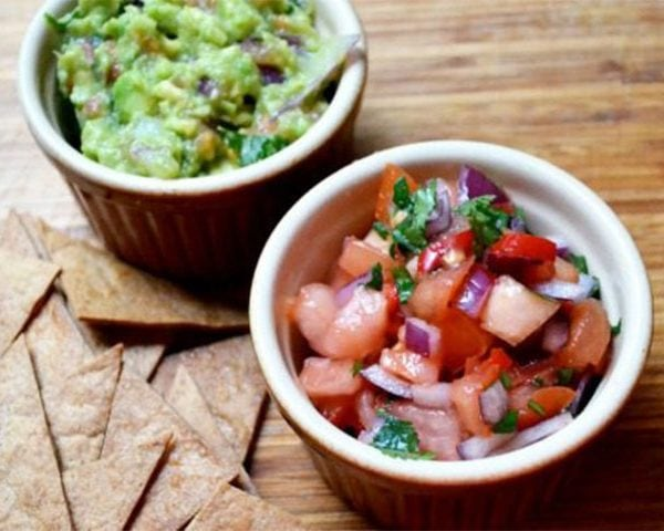 Tasty TexMex Challenge, cup of salsa and guacamole