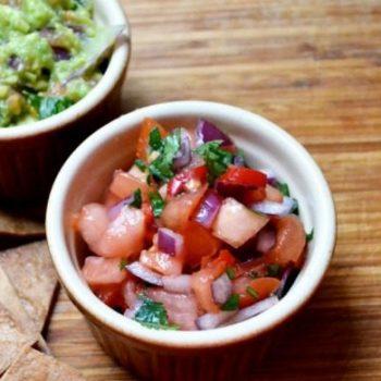 Tasty Tex-Mex Challenge, salsa and guacamole