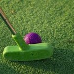 Mini-Masters Charity Golf Tournament, putter and golf ball